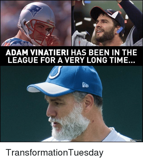 Cbssports: ADAM VINATIERI HAS BEEN IN THE  LEAGUE FOR A VERY LONG TIME.  CBSSports TransformationTuesday