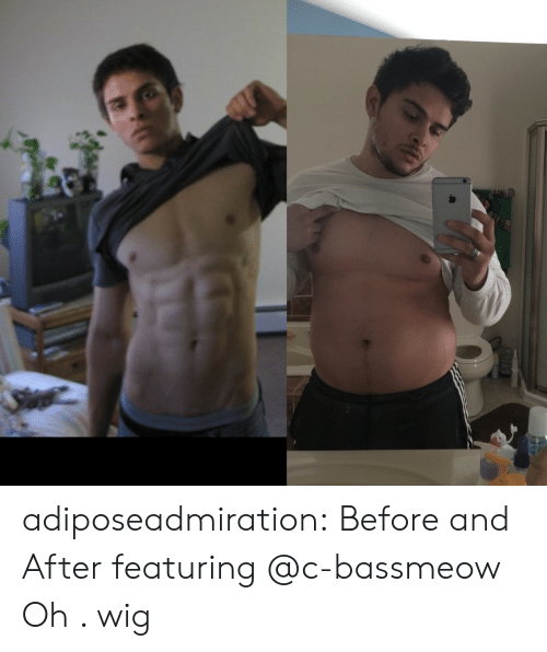 Tumblr, Blog, and Com: adiposeadmiration:  Before and After featuring @c-bassmeow  Oh . wig