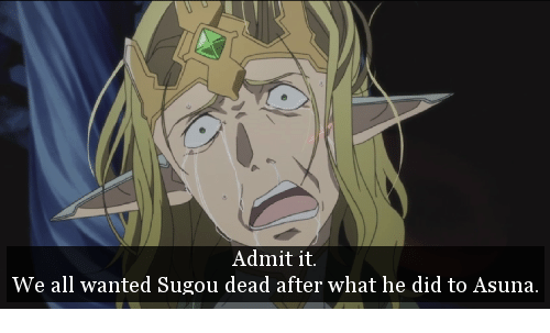Memes, 🤖, and Wanted: Admit it.  We all wanted Sugou dead after what he did to Asuna.