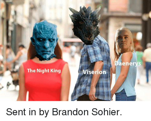 Senting: aenerys  The Night King  seon  ri Sent in by Brandon Sohier.
