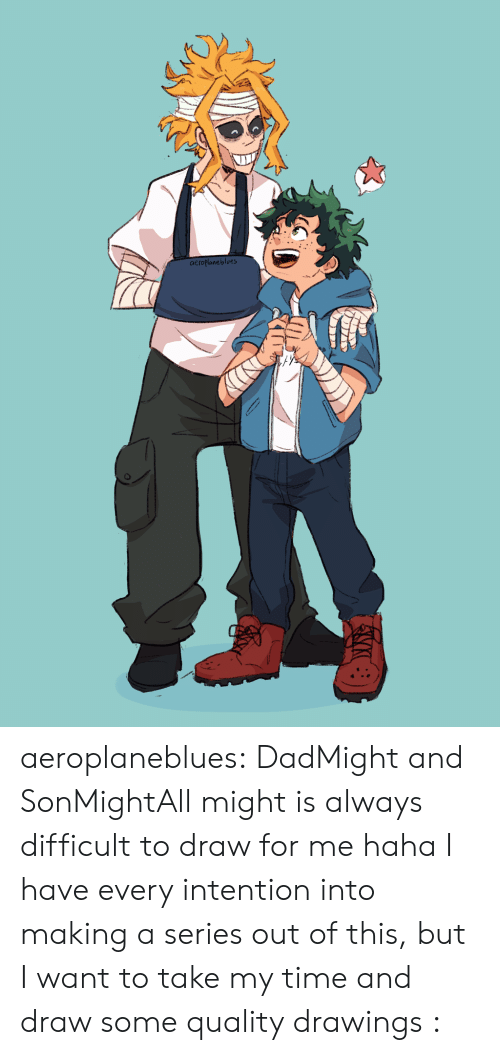 Target, Tumblr, and Blog: aeroplaneblues aeroplaneblues:  DadMight and SonMightAll might is always difficult to draw for me haha I have every intention into making a series out of this, but I want to take my time and draw some quality drawings :