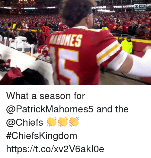 Memes, Chiefs, and 🤖: AFC CHAMP What a season for @PatrickMahomes5 and the @Chiefs 👏👏👏  #ChiefsKingdom https://t.co/xv2V6akI0e