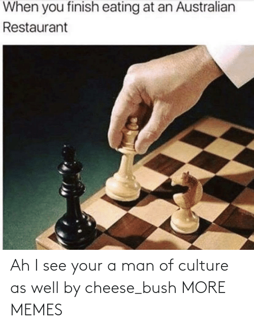 as well: Ah I see your a man of culture as well by cheese_bush MORE MEMES