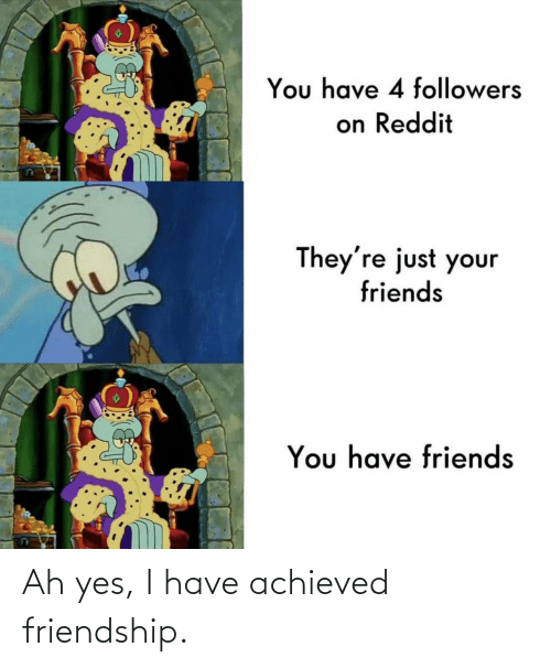 yes: Ah yes, I have achieved friendship.