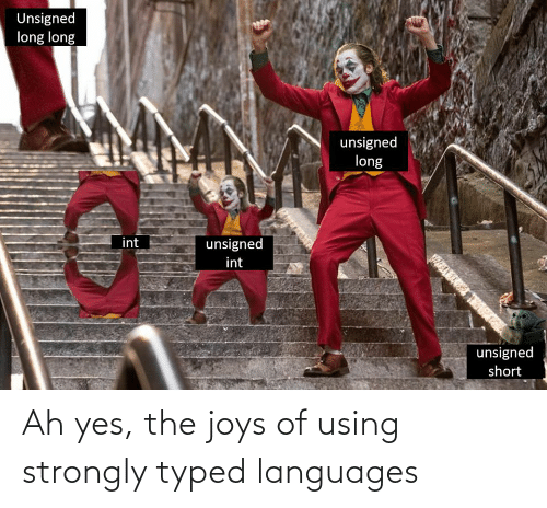 Typed: Ah yes, the joys of using strongly typed languages