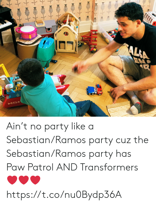 PAW Patrol: AL&A  END  &15 Ain't no party like a Sebastian/Ramos party cuz the Sebastian/Ramos party has Paw Patrol AND Transformers ❤️❤️❤️ https://t.co/nu0Bydp36A