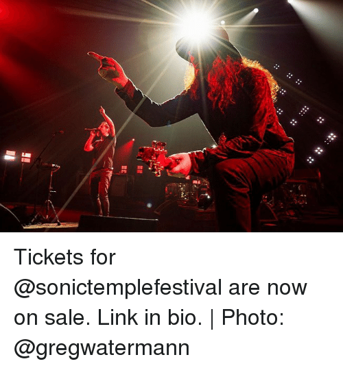 Memes, Link, and 🤖: AL Tickets for @sonictemplefestival are now on sale. Link in bio. | Photo: @gregwatermann