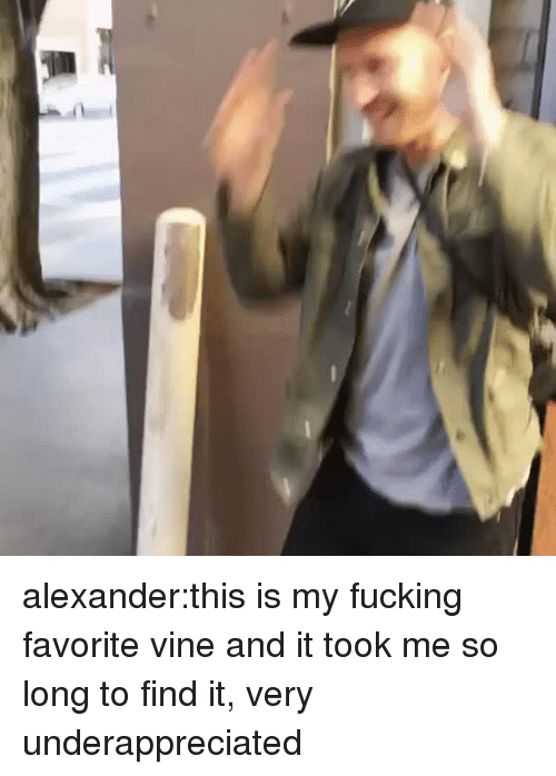 Fucking, Tumblr, and Vine: alexander:this is my fucking favorite vine and it took me so long to find it, very underappreciated