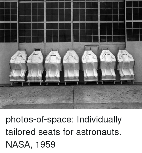 astronauts: ALFORD  DANEL  VAIL photos-of-space:  Individually tailored seats for astronauts. NASA, 1959
