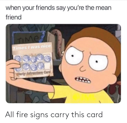 signs: All fire signs carry this card