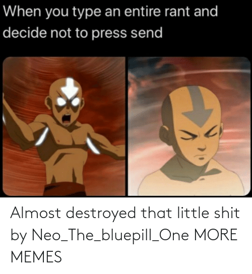 shit: Almost destroyed that little shit by Neo_The_bluepill_One MORE MEMES
