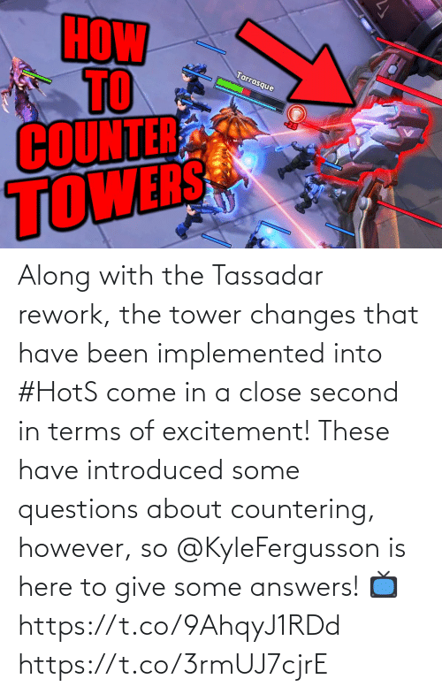 excitement: Along with the Tassadar rework, the tower changes that have been implemented into #HotS come in a close second in terms of excitement!  These have introduced some questions about countering, however, so @KyleFergusson is here to give some answers!  📺https://t.co/9AhqyJ1RDd https://t.co/3rmUJ7cjrE