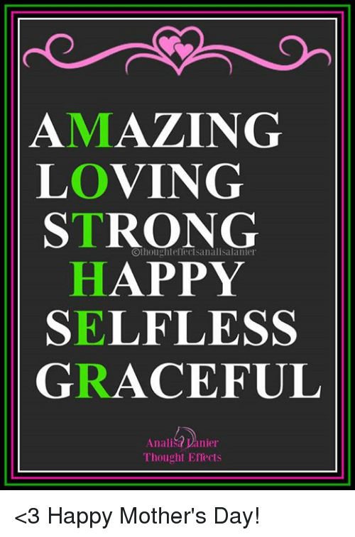 Amazing Loving Strong Happy Selfless Graceful Analisa Vanier Thought