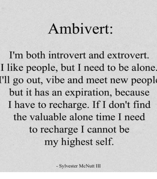 introvert time alone