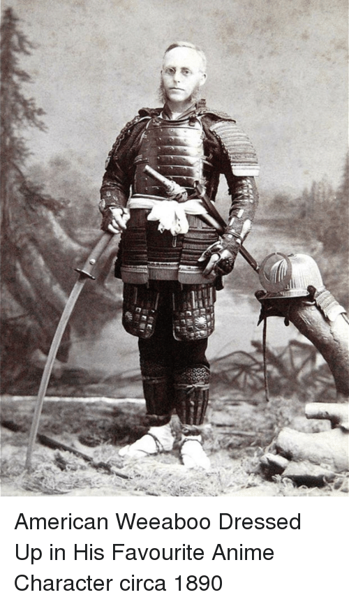 Anime Character: American Weeaboo Dressed Up in His Favourite Anime Character circa 1890