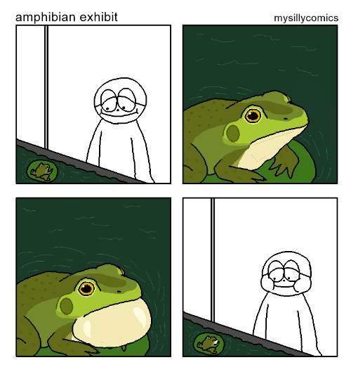 Amphibian and Exhibit: amphibian exhibit  mysillycomics