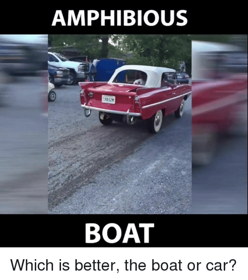 Dank, Boat, and 🤖: AMPHIBIOUS  BOAT Which is better, the boat or car?