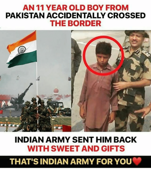 An 11 Year Old Boy From Pakistan Accidentally Crossed The Border