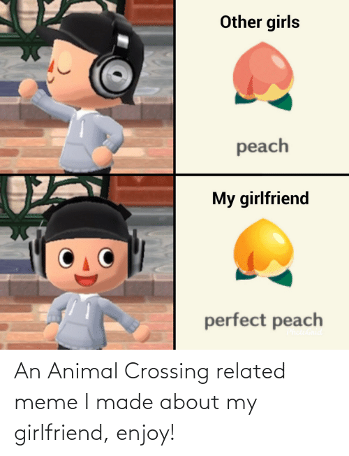 my girlfriend: An Animal Crossing related meme I made about my girlfriend, enjoy!