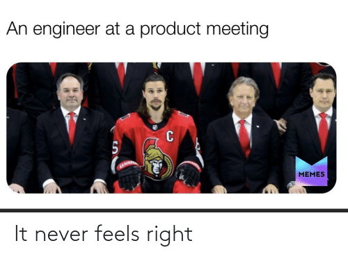 engineer: An engineer at a product meeting  MEMES It never feels right