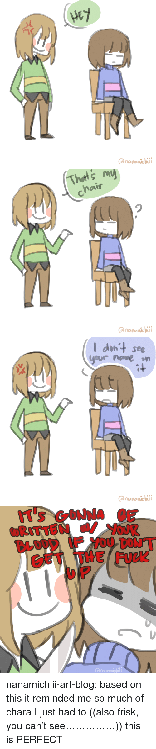 Facebook, Target, and Tumblr: ananaichi   I dan'+ see  yur name on  ananaichi   CET THE FUCK  anananichi nanamichiii-art-blog:  based on this it reminded me so much of chara I just had to  ((also frisk, you can't see……………))   this is PERFECT
