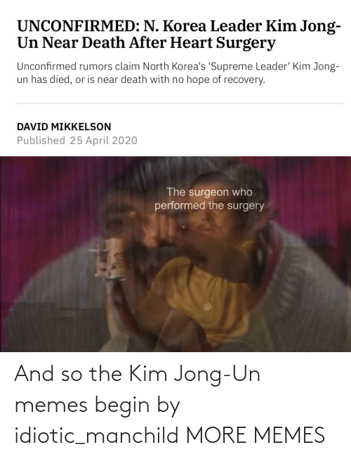 Kim Jong Un Memes: And so the Kim Jong-Un memes begin by idiotic_manchild MORE MEMES