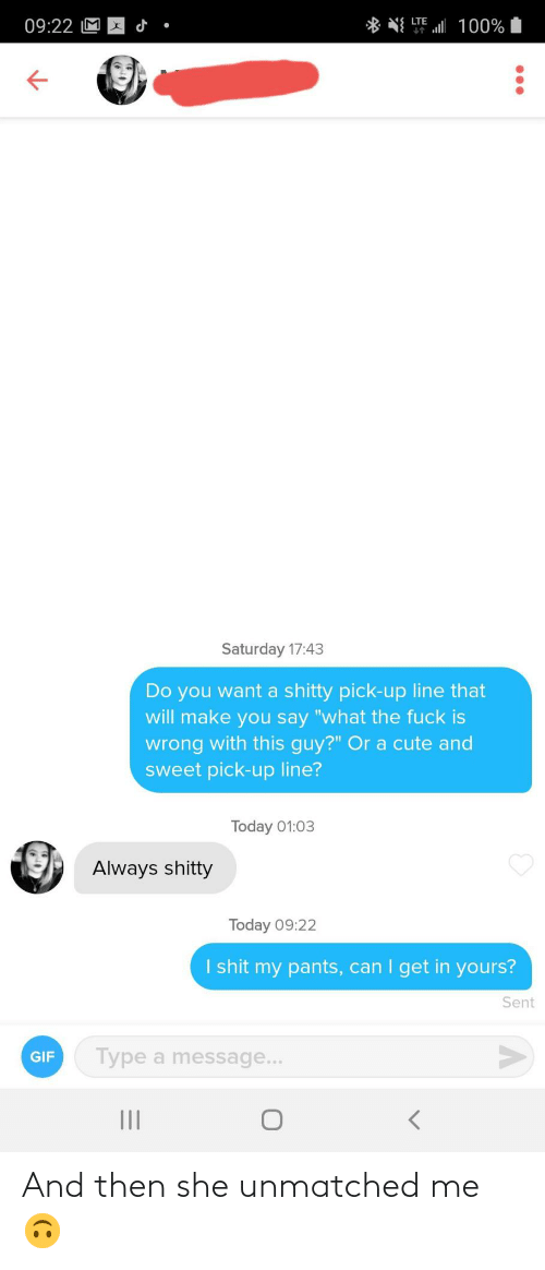 and then: And then she unmatched me 🙃