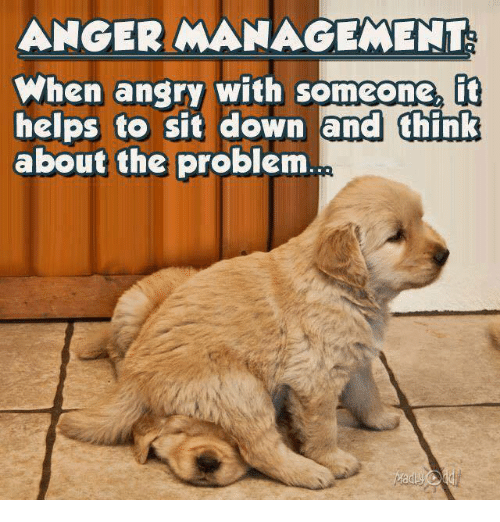 Anger Management: ANGER MANAGEMENT  When anary with someone,  fit  helps to sit down and think  about the problem