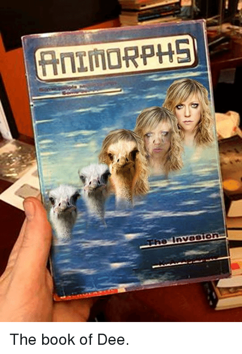 Animorphs, Memes, and Book: (AnIMORPHS  0 Invasion The book of Dee.