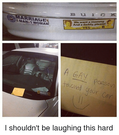 Daddy Please: ANMARRIAGE  We want a mommy  A And a daddy, please!  turned your Car I shouldn't be laughing this hard