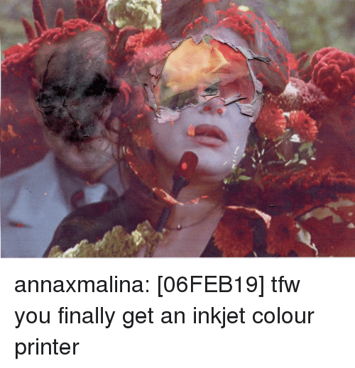 Tfw, Tumblr, and Blog: annaxmalina:  [06FEB19] tfw you finally get an inkjet colour printer