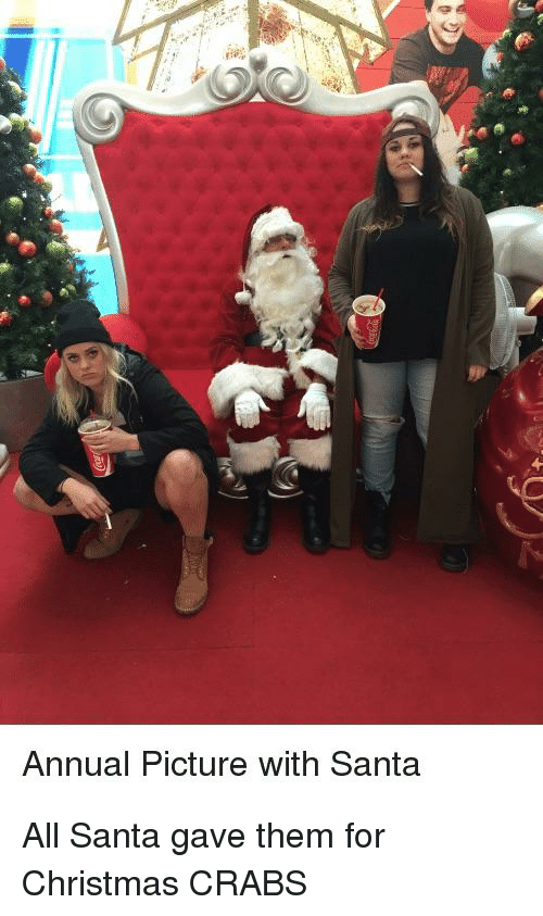 Christmas, Santa, and Trashy: Annual Picture with Santa