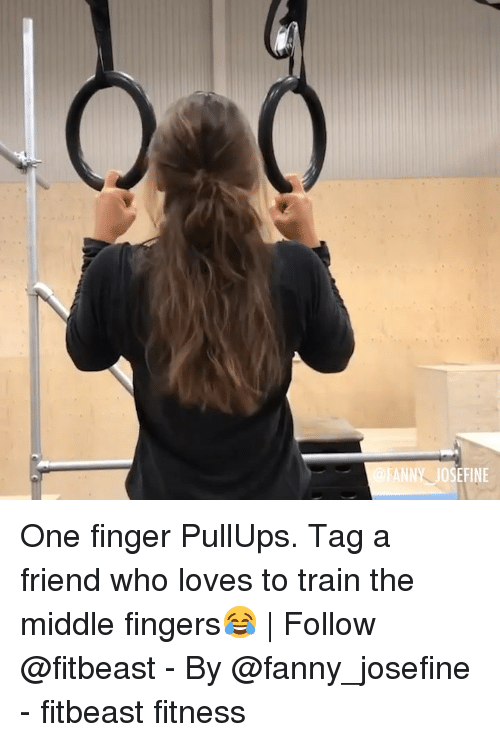 fanny: ANNY JOSEFINE One finger PullUps. Tag a friend who loves to train the middle fingers😂 | Follow @fitbeast - By @fanny_josefine - fitbeast fitness