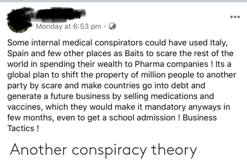 Conspiracy Theory: Another conspiracy theory