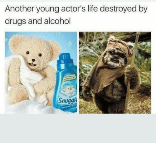Drugs And Alcohol: Another young actor's life destroyed by  drugs and alcohol  Snuggl