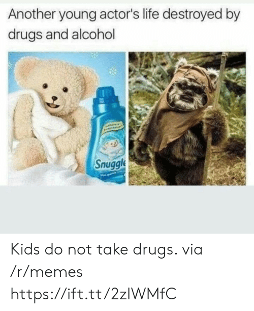 Drugs And Alcohol: Another young actor's life destroyed by  drugs and alcohol  Snuggl Kids do not take drugs. via /r/memes https://ift.tt/2zIWMfC