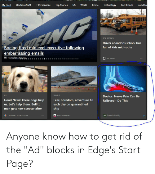 """Start: Anyone know how to get rid of the """"Ad"""" blocks in Edge's Start Page?"""