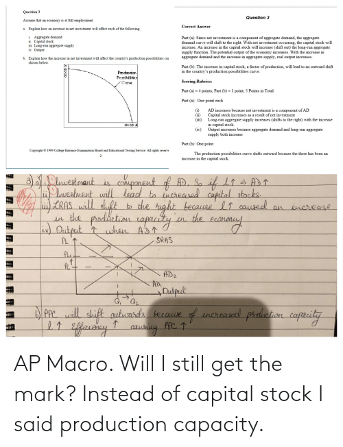 mark: AP Macro. Will I still get the mark? Instead of capital stock I said production capacity.