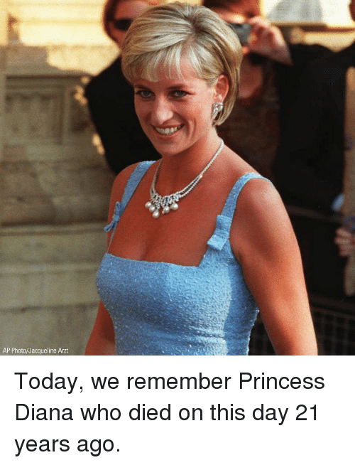 Princess Diana: AP Photo/Jacqueline Arzt Today, we remember Princess Diana who died on this day 21 years ago.