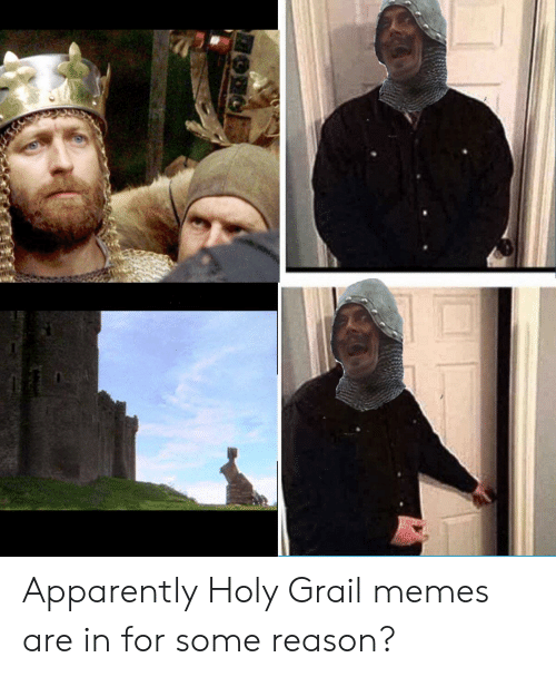 Apparently, Memes, and Reddit: Apparently Holy Grail memes are in for some reason?