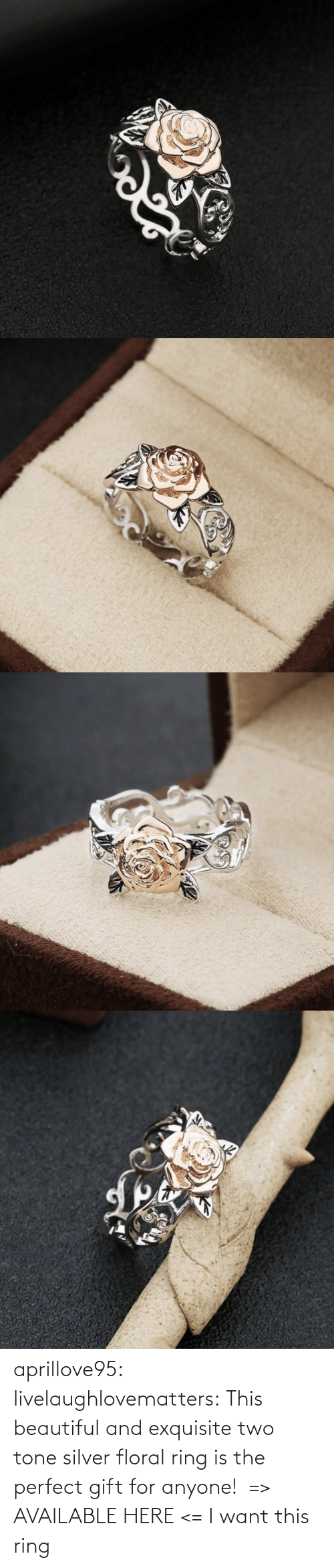 anyone: aprillove95:  livelaughlovematters:  This beautiful and exquisite two tone silver floral ring is the perfect gift for anyone!  => AVAILABLE HERE <=    I want this ring