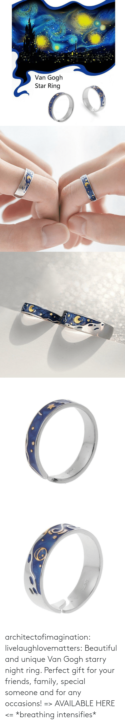 family: architectofimagination:  livelaughlovematters: Beautiful and unique Van Gogh starry night ring. Perfect gift for your friends, family, special someone and for any occasions! => AVAILABLE HERE <=    *breathing intensifies*
