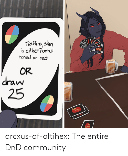 community: arcxus-of-altihex:  The entire DnD community
