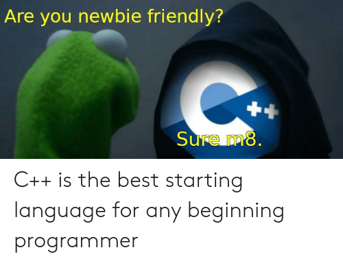 Best, Language, and You: Are you newbie friendly?  ure nm C++ is the best starting language for any beginning programmer