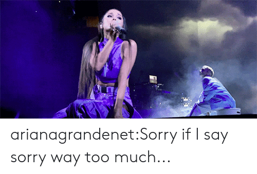 Sorry, Target, and Too Much: arianagrandenet:Sorry if I say sorry way too much...