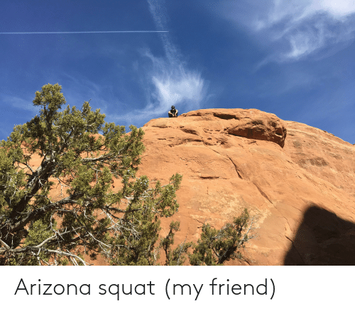 Squat: Arizona squat (my friend)