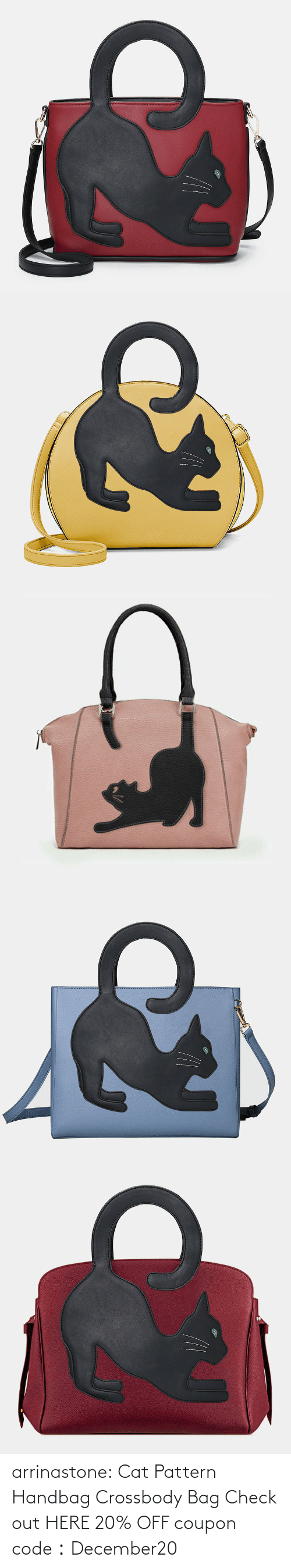 code: arrinastone: Cat Pattern Handbag Crossbody Bag Check out HERE 20% OFF coupon code:December20