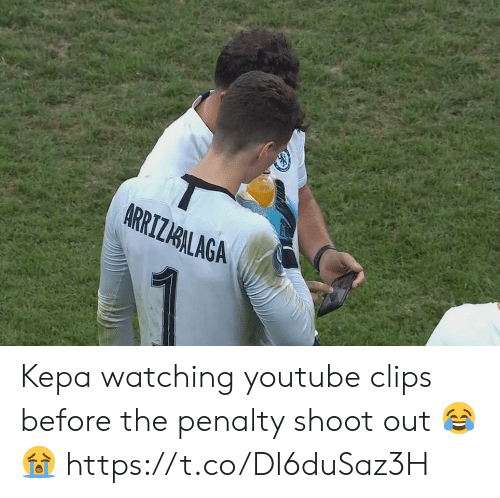 Memes, youtube.com, and 🤖: ARRIZIALAGA Kepa watching youtube clips before the penalty shoot out 😂😭 https://t.co/DI6duSaz3H