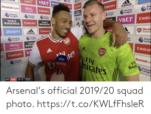 Squad: Arsenal's official 2019/20 squad photo. https://t.co/KWLfFhsleR