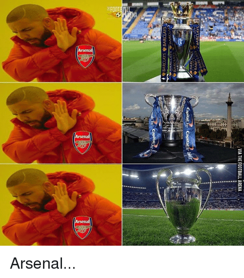 Capitalization: Arsenal  :9  Arsenal  rsenal  VIA THE FOOTBALL ARENA  avs  Capital  v1Dyva Arsenal...